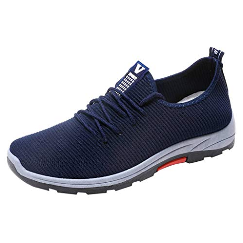 Men Jogging Sneakers,Male Lightweight Running Hiking Footwear Casual Mesh Breathable Slip On Shoes