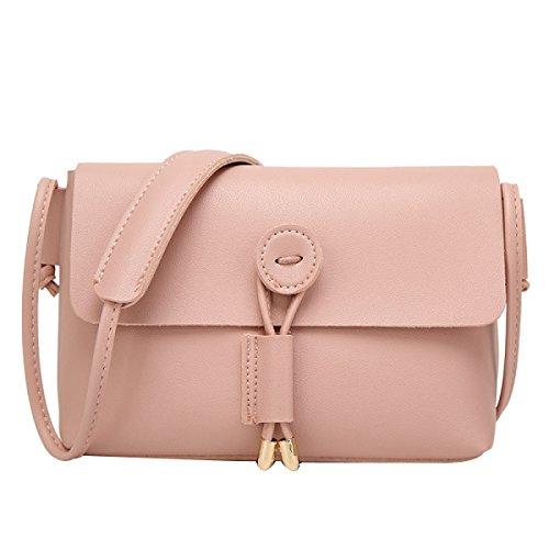 Bolsa Bolso Pequeño Cuadrado Multicolor De Las Señoras De La Moda Pink