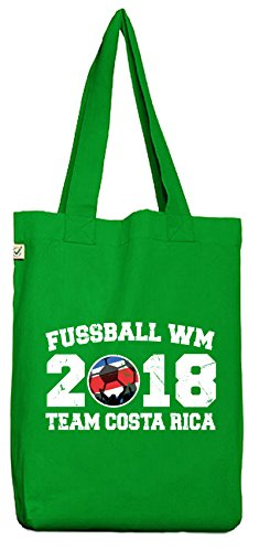 ShirtStreet Fußball WM Fanfest Gruppen Trikot Bio Baumwoll Jutebeutel Stoffbeutel Team Costa Rica Kelly Green oK9LyEvj
