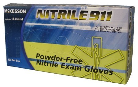 Lot of 100 McKesson NITRILE 911 Purple Chemo Tested Exam Glove 9.5 Inch Large