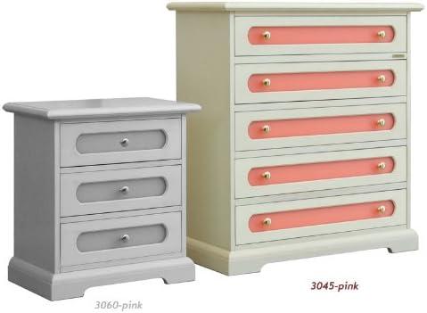 Comò Camera Da Letto Dimensioni : Comò per camera da letto bambini mobile avorio patinato e rosa per