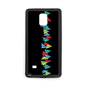 Samsung Galaxy Note 4 Phone Case Covers Black Paper Airplanes PFY Bytech Cell Phone Cases