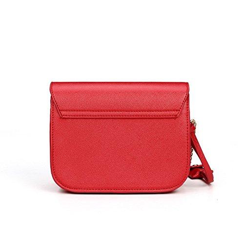 Rosso tracolla Shopping tracolla a VogueZone009 Fibbia Luccichio Donna Borse a Borse fgcvw6q