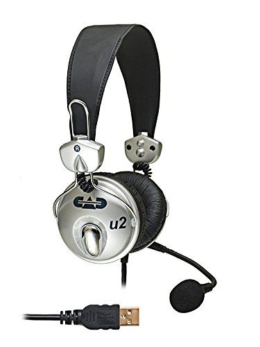 CAD Audio USB U2 Stereo Headphones with Cardioid Condenser Microphone (Best Headset With Microphone For Recording)