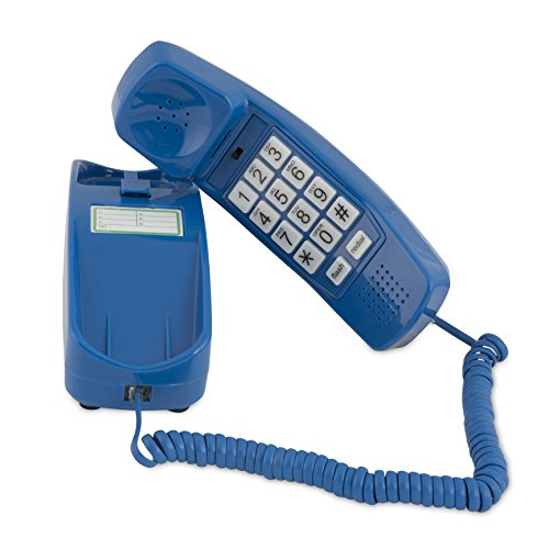 Trimline Corded Phone - Phones For Seniors - Phone for hearing impaired - Classic Blue - Retro Novelty Telephone - An Improved Version of the Princess Phones in 1965 - Style Big Button - iSoHo Phones for $<!--$37.00-->