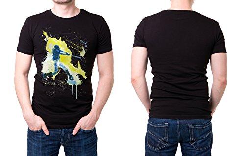 Baseball_III schwarzes modernes Herren T-Shirt mit stylischen Aufdruck