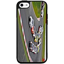 Cars Racing on Racetrack 2-Piece Dual Layer Phone Case Back Cover iPhone 5 5s comes with Security Tag and MyPhone Designs(TM) Cleaning Cloth