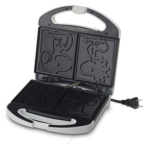 Smart Planet SGCM‐2 Peanuts Snoopy and Woodstock Grilled Cheese Sandwich Maker, White by Smart Planet (Image #2)