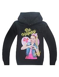 "Wazonton JoJo Siwa Hoodies Casual Shirt Tops and Trouser Printed with ""Be Happy"""