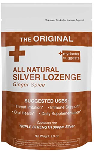 (All Natural Silver Lozenges - Ginger Spice: The Perfect Cough Drop for Cough, Throat & Mouth Health or Even Daily Supplementation and Immune Support - Contains 30ppm Silver Solution in Each Drop)