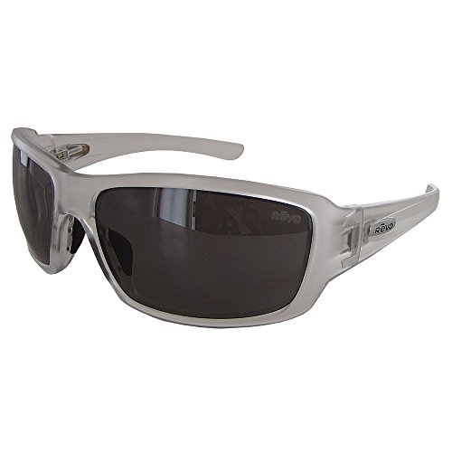 Revo Unisex RE 4057X Cruze Wraparound Polarized UV Protection Sunglasses Wrap, Crystal Frame, Graphite ()