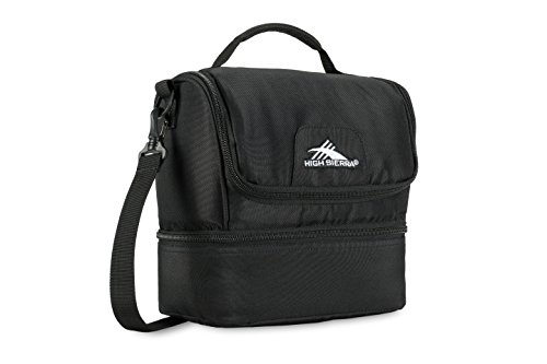 High Sierra Double Decker Lunch Bag, Black