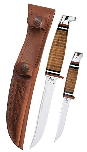 - Case Two-Knife Leather Hunter Set