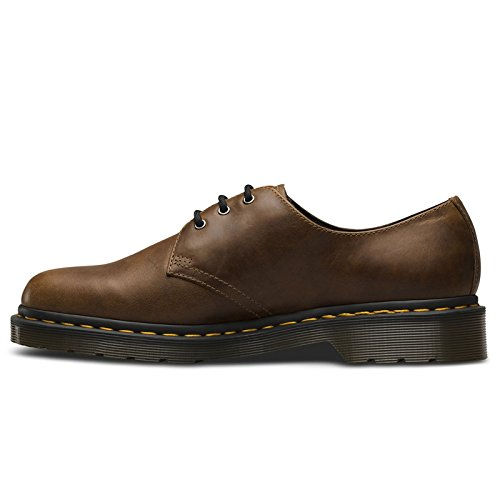 Dr.Martens Mens 1461 3 Eyelet Leather Shoes Marron