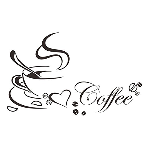 IUNEED Kitchen Decor Coffee Cup Removable Home Decals Vinyl Art Wall Sticker -
