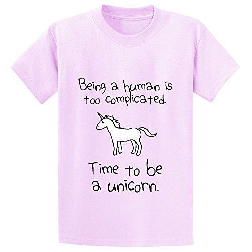 unicorn-time-to-be-a-unicorn-boys-print-crew-neck-t-shirts-pink