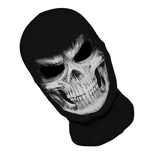 Favson Face Mask, Skull Ghost Death Balaclava Face Mask Skeleton Halloween Cosplay Costume