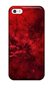 Rugged Skin Case Cover For Iphone 5/5s Eco Friendly Packaging Black And Red