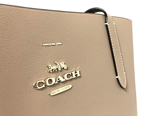 Coach F31535 Beachwood Wine Beige Large Leather Women's Tote Bag by Coach (Image #1)