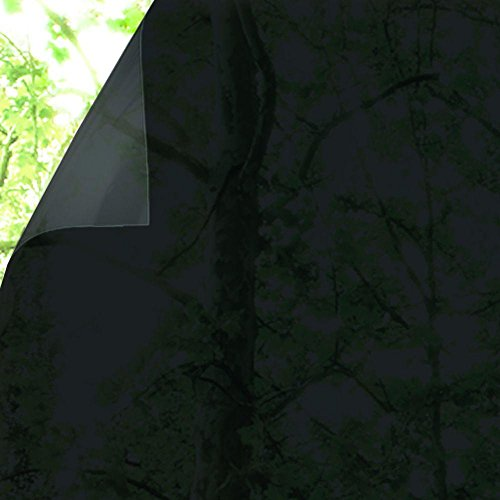 Gila Privacy Black Static Cling Residential DIY Window Film No Glue No Adhesive 3ft x 6.5ft (36in x 78in)