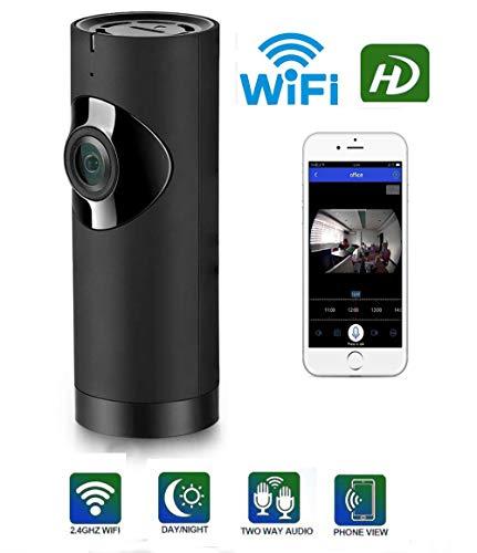 Mini Wireless Home Security Camera, ASZHONGA Panoramic Camera HD 1080P Baby Pet Security Camera System 360 Degree Fisheye Night Vision 2-Way Audio Alarm Motion Detection IP Camera Surveillance Camera