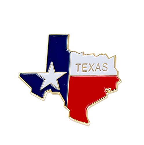 (Forge State Shape of Texas and Texas Flag Lapel Pin (10 Pins))