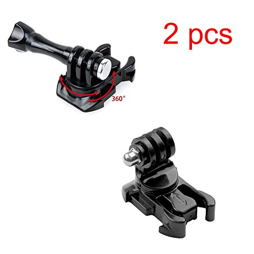 2pcs Oumers 360 Degree Rotating Quick Release Tripod Mount Adapter Assembling Buckle for GoPro Hero5 Black Gopro Hero 4 Session 4 Gopro Hero 3+ 2 1 Accessory (Hero Quick Release)