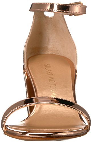Stuart Weitzman Women's Simple Heeled Sandal Beige UgOvjZ6