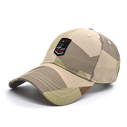 yeyimei Army Tactical Hat Baseball Cap Desert Camouflage Low Profile Embroidered Adjustable Camo Cotton Men Unisex Caps Hunting Outdoor Sport Fishing Ballcap (Desert ()