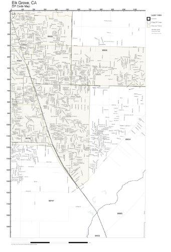 Amazon Com Zip Code Wall Map Of Elk Grove Ca Zip Code Map