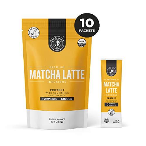 (Jade Leaf Matcha Latte Infusions - PROTECT - Turmeric + Ginger - 10ct Single Serves)