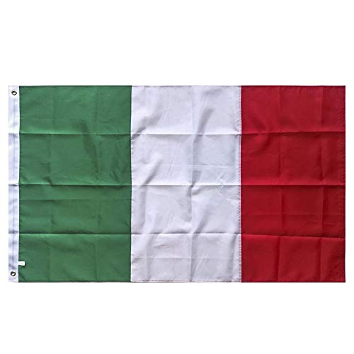 Lixure Italy Flag Italian Flag 3x5FT Nylon-Sewn Stripes 4 Rows Lock Stitching World Flags Durable 210D Nylon with Brass Grommets Banner