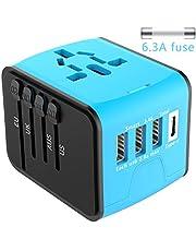 EXTSUD Universal Reiseadapter Reisestecker mit 3 USB Ports und Type C