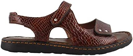La Plume Women's Bonnie Low Heel Sandal Brown Croc 39