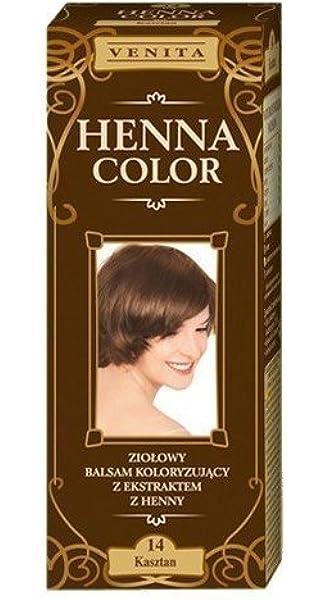 Henna color 14con castaños pelo Bálsamo efecto Color del ...