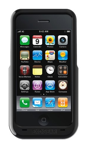 Exogear Rechargeable Battery Case for iPhone 3G/3GS - Black (Cases Iphone Phone 3g)