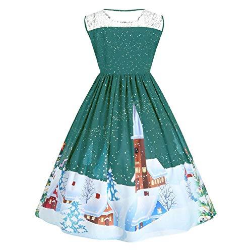 Women Dresses Godathe Women Christmas Print Lace Pin Up Swing Lace Party Panel Plus Size Dress XL-5XL at Amazon Womens Clothing store: