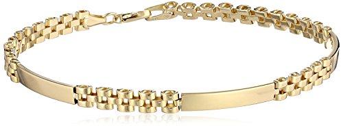 Men's 14k Yellow Gold Fancy with Identification Bars Bracelet, 8.5