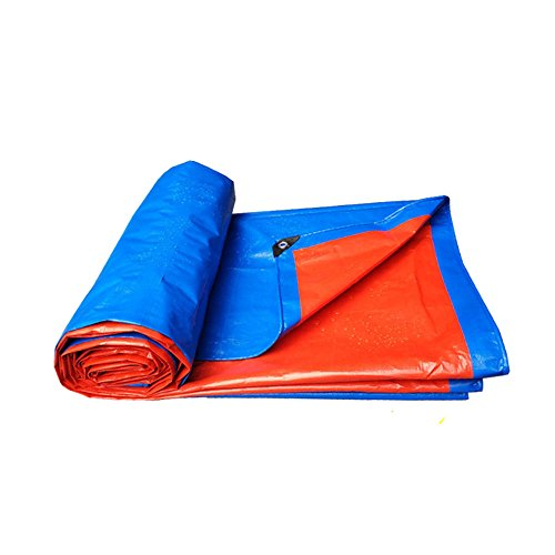 Tent Tarps HUO Waterproof Tarpaulin for Storage and Transit, Ground Sheet Outdoor Camping Tarp Shelters Cover (Color : Blue+Red, Size : 66m)