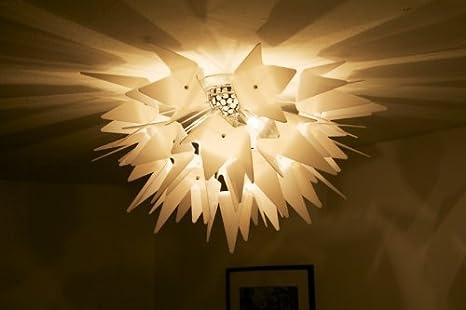 Plafoniera Fiori Bianca : Lampada da soffitto moderna bianca plafoniera design lampadario