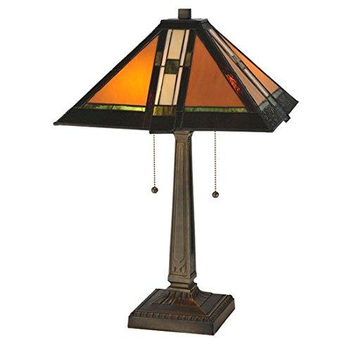 Tiffany Honey Meyda Tiffany (Prairie Parquet Mission Table Lamp)