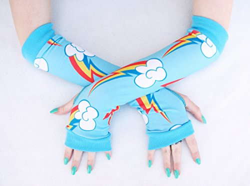 Rainbow Brite Horse Costume (Rainbow and Dash Arm Warmers Fingerless Gloves Cosplay Costume)