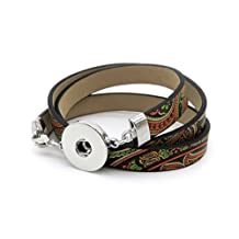 Stoyuan Ginger Snaps Snap Bracelet Interchangeable Leather Chain Jewelry Snap Accessory