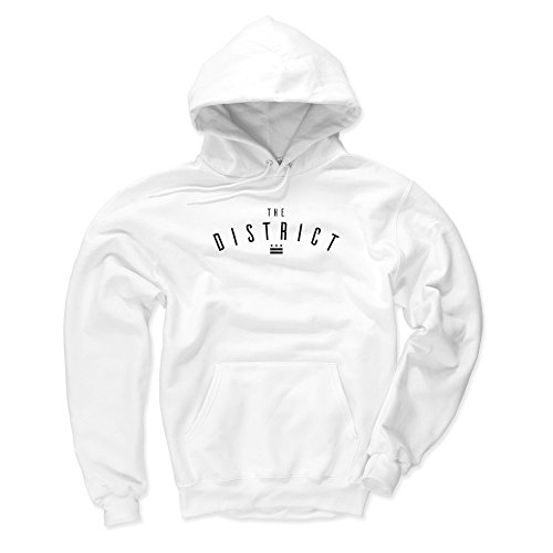 Fleece Sweatshirt Dc (500 LEVEL Washington D.C. Men's Hoodie - X-Large White - Washington D.C. The District)