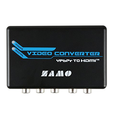 Component to HDMI,ZAMO 5RCA Component RGB YPbPr to HDMI Converter v1.3 HDCP Video Audio Converter Adapter for DVD, PSP, Xbox 360 to new HDTV or Monitor (Rgb Ypbpr Converter Hdmi)