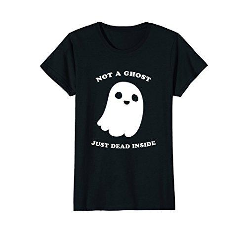 Womens Pastel Goth Shirt Not A Ghost Just Dead Inside Medium - Grunge Goth