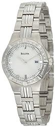 Bulova Women's 96R136 Diamond Case Mother-Of-Pearl Dial Bracelet Watch