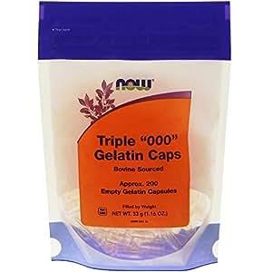 Triple 000 Gelatin Caps 200 Empty Capsules From NOW