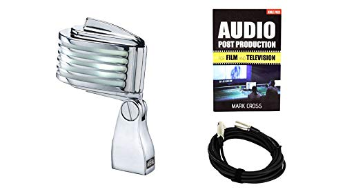 Heil Sound The Fin Microphone (White LED) Bundle with Audio Production for Film and TV & XLR Cable (3 Items)
