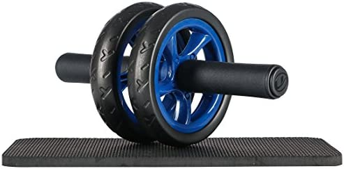 Ultrasport Bauchtrainer AB Wheel, Bauchmuskeltrainer für Zuhause, zum Trainieren von Bauchmuskeln, Rücken & Schultern, Oberkörper-Roller inkl. Kniematte, platzsparendes Sportgerät, grün